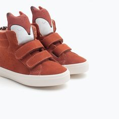 LEATHER BASKETBALL BOOTS WITH FOX DESIGN-Shoes-Baby boy (3 months - 3 years)-KIDS | ZARA United States