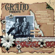 pinterest grandparrent scrapbook ideas | Grandparents | Scrapbooking Ideas