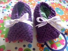 la stanza di lizzie: Viola, colore dell'autunno - scarpette per neonata