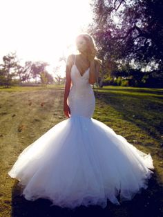 Mermaid wedding gown, lace wedding dress, jasmine by lauren elaine Lace Mermaid Wedding Dress, Dream Wedding Dresses, Bridal Dresses, Prom Dresses, Lace Wedding, Formal Dresses, Dresses 2016, Bridal Lace, Trendy Wedding