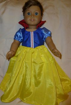 Snow White Style Dress Fits American Girl or by dolldesignsbycindy, $18.00