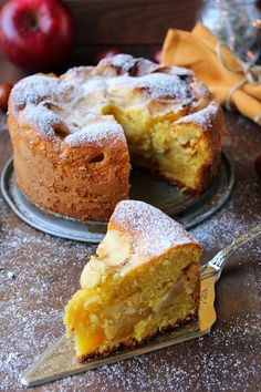 Morbidona alle mele Apple Recipes, Sweet Recipes, Cake Recipes, Cupcakes, Cupcake Cakes, Bolo Fit, Confort Food, Torte Cake, Sweet Cakes