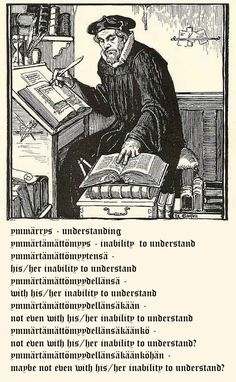 I think this is a picture of Mikael Agricola the man who completed the first translation of the Bible into Finnish Linguistics Major, Learn Finnish, Finnish Language, Just Kidding, Finland, Vocabulary, Have Fun, At Least, Just For You