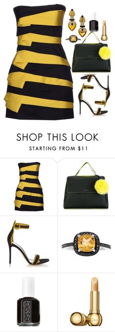 """""""Queen Bee"""" by deborah-calton ❤ liked on Polyvore featuring Balmain, Orciani, Gianvito Rossi, Piranesi, Essie and Christian Dior"""