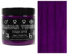 Lunar Tides Plum Purple, semi permanente haarverf paars - 118 ml - Lun Magenta Hair Dye, Plum Purple Hair, Burgundy Hair Dye, Rose Pink Hair, Green Hair Dye, Pink Ombre Hair, Dark Purple, Violet Hair, Dye Hair