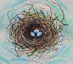 Image result for NEsT ON birch tree