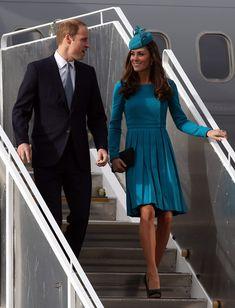 Prince William, Duke of Cambridge and Catherine, Duchess of Cambridge arrive at Dunedin International Airport on April 13, 2014 in Dunedin, New Zealand.