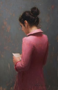 """Aaron Westerberg, """"The Letter"""" - 20x14, oil on panel --at Principle Gallery"""