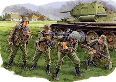 """Waffen SS - 1.SS Panzergrenadierend Division """"Leibstandarte Adolf Hitler"""" 1943 Kursk - Ron Volstad - Dragon"""