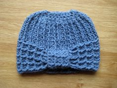 Crochet Messy bun hat tutorial (eng sub) pattern press CC button for sub...