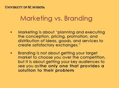 Marketing vs. Branding