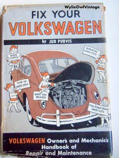 Vintage Fix Your Volkswagen Book 1968 by WylieOwlVintage on Etsy, $24.00