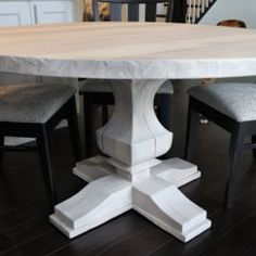 Round Tables Joliet, IL - Rustic Elements Furniture 60 Inch Round Table, Round Tables, Round Dining Table, Kitchen Table Chairs, Table And Chairs, Custom Furniture, Home Kitchens, Rustic, Wood
