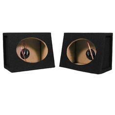 "Car SUV Truck Wedge Black 6-Inch X 9-Inch Speaker Boxes Sealed 6x9 Enclosures TR69 by Sycho Sound. $29.99. SpecificationsNew Pair of 6X9 Speaker BoxesSpeaker Hole is 6"" X 8.75"" in Diameter per BoxBuilt-in Terminals with Gold Screw PostsFits Mostly All VehiclesConstructed with High Quality MDF HardwoodEnclosure Volume is .2 Cubic FeetHeight 8.5"" x Length 12"" x Top Depth 4.75"" x Bottom Depth 6.75"" per Box5 Pounds per BoxSpeaker Mounting Depth is 4.5""The Front (where the woofers lo..."