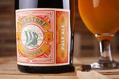 Beer label design - Sunstone Alehouse - 43'oz Design Studio