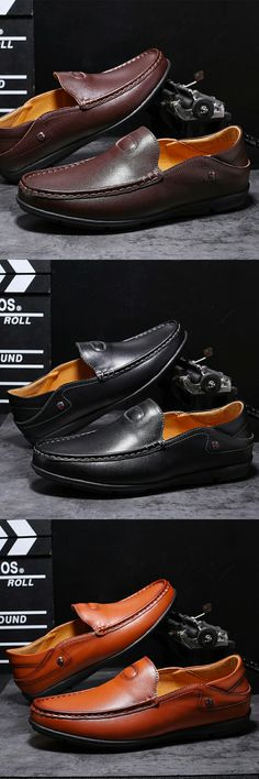 the latest 4e4c0 29c95 US 26.7 Click to buy Prelesty New Urban Soft Genuine Leather Men Loafer  Shoes