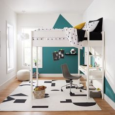From multifunctional bunk beds, to accessories like art easels and storage baskets, West Elm Kids products are designed to grow with your children. #dwell #westelm #kidsroom #kidsfurniture Teen Bedding, White Bedding, Teen Furniture, Furniture Decor, Built In Desk, Pottery Barn Teen, Kids Room Design, Cool Beds, Kids Bedroom