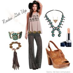 Rodeo Hippie by afcommunications on Polyvore featuring Show Me Your Mumu, BCBGeneration, Frye, NAKAMOL and Christian Dior