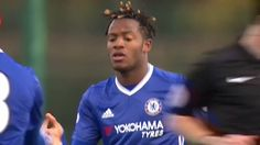 A tidy finish from Michy Batshuayi for Chelsea's development squad earlier...