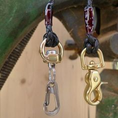 leather wallet chain / nut recycled