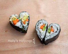 Heart Veggie Sushi