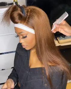 Honey Brown Hair, Honey Blonde Hair, Blonde Hair Black Girls, Brown Hair Balayage, Hair Highlights, Wig Hairstyles, Straight Hairstyles, Curly Hair Styles, Natural Hair Styles