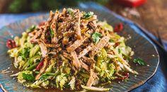 салат с мясом в азиатском стиле