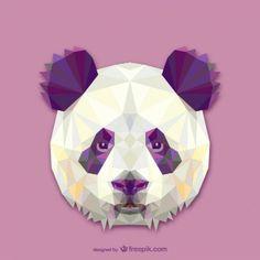 Conception triangle de panda