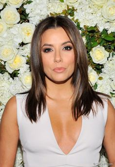Eva Longoria with glossy layers