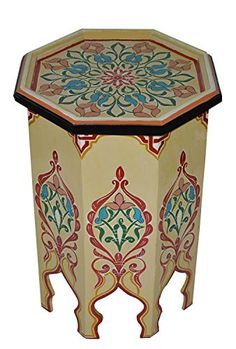 Shop a great selection of Moroccan Handmade Wood Table Side Delicate Hand Painted Beige Exquisite. Find new offer and Similar products for Moroccan Handmade Wood Table Side Delicate Hand Painted Beige Exquisite. Wood End Tables, Wood Table, Moroccan Table, Plant Table, Wood Pedestal, Metal Chairs, Chair And Ottoman, Living Room Furniture, Hand Painted