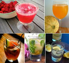 round up of drink recipes for summer nights!