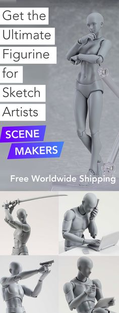 Fully-adjustable, realistic figurines for drawers, sculptors and digital artists