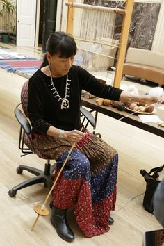 D.Y. Begay is known internationally as a respected Navajo weaver who incorporates traditional Navajo weaving techniques, materials and philosophy into her extraordinary hand woven tapestries.