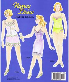 I love the way Nancy Drew is sleuthing even in her lingerie!