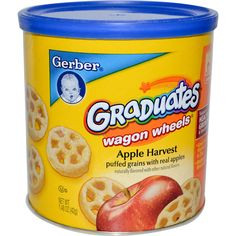 Gerber Baby Food | Gerber, Graduates Finger Foods, Apple Harvest Wagon Wheels, 1.48 oz ...