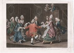 The cotillion dance. James Caldwell - printmaker. March 1771. Call # 771.03.10.01+  Lewis Walpole Library Digital Collection