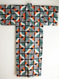 Suika Yukata for women - Cotton Yukata Kimono, Japanese cotton kimono robe, women bath robe, summer fashion, large summer kimono