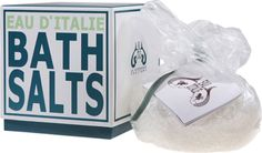 One of my favourite scents Eau d'Italie: Bath Salts Shopping In Italy, Relaxing Bath, Bath Salts, Body, Fragrance, Pure Products, Crystals, Bathroom, Italy