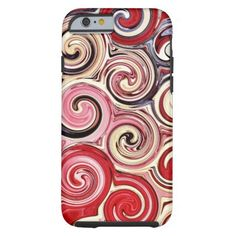 Swirl Me Pretty Colorful Pink Swirls iPhone 6 Case