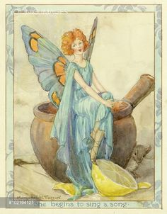 Fairy Singing a Song - Illustration from the book 'The House Fairies'