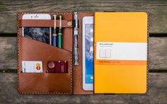 Whether you're going to the coffee shop or you're out in the field, you can keep your essentials close at hand with a case from Galen Leather. They're a two-person team based in Istanbul, Turkey, handcrafting beautiful leather cases designed to keep your notebook and the rest of your EDC organized.Their iPad Mini/A4 Notebook case has enough room to comfortably fit and protect everything you need for a minimal mobile office setup that's easy to grab and go. You can load it up with your…
