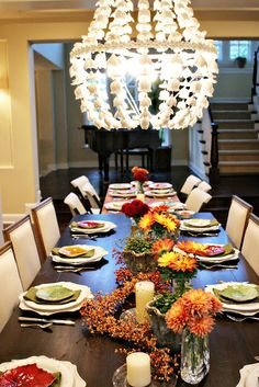 Thanksgiving Table- exactly what i want to do