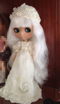 """12"""" Neo Nude  White hair Blythe doll From Factory  JSW26012-2+Gift #Takara…"""