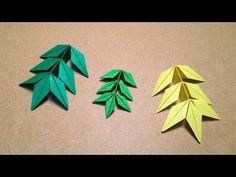 Origami Flower / Marigold Leaf Instructions / (Toshikazu Kawasaki) - YouTube