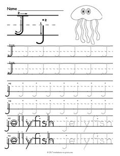 Free Printable Tracing Letter I Worksheet Letter J Activities, Letter Worksheets For Preschool, Alphabet Tracing Worksheets, Handwriting Worksheets, Tracing Letters, Preschool Letters, Alphabet Worksheets, Kindergarten Worksheets, Printable Worksheets