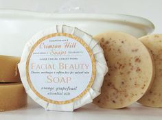 Natural Round Facial Beauty Soap  face wash by crimsonhill on Etsy, $8.00