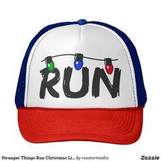 Run Christmas Lights Trucker Hat ~ $16 ~ Stranger Things Gifts!