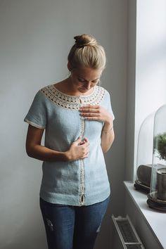 Ravelry: Mariannes cardigan pattern by Trine Bertelsen Summer Knitting, Patchwork Dress, Cardigan Pattern, Crochet Fashion, Crochet Designs, Pullover, Pattern Design, Knitting Patterns, Sweaters