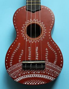 Zentangle-Inspired Hand-Painted Ukulele by UkuLeeShee on Etsy