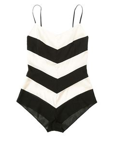 Chevron one-piece... When I lose weight I want something like this w/ dressy pants or skinny jeans